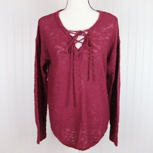 Maurices Knitted Long Sleeve Top Size Large